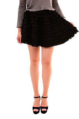 Diesel Women's Authentic Stylish De-Ledar Skirt Black Size XS
