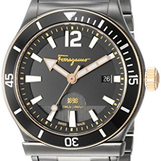Salvatore Ferragamo Men's ' Sport' Swiss Quartz Stainless Steel Casual Watch, Color:Grey