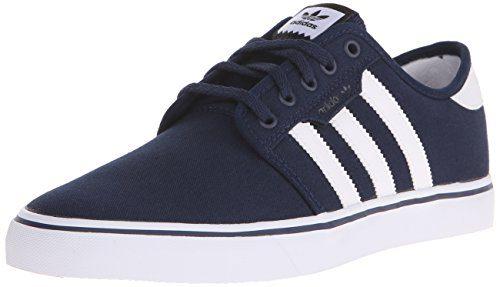Adidas Men's Seeley Skate Shoe, Collegiate Navy/White/Black, 9.5 M US
