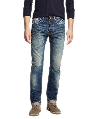 PRPS Goods & Co. Men`s Woven Denim Jean (30, Indigo)