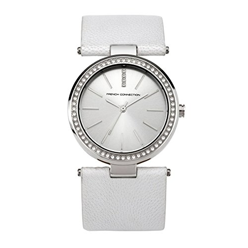 French Connection Women's Classic White Crystals Watch