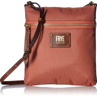 FRYE Ivy Zip Crossbody Nylon Handbag, Dusty Rose