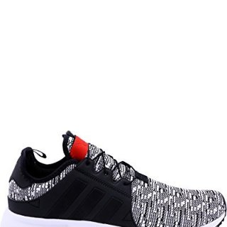 adidas Men's X PLR Sneakers, Black/Red,9