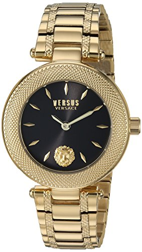 Versus by Versace Women's 'Brick Lane EXT' Quartz Stainless Steel and Gold Plated Casual Watch