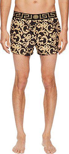Versace Men's Barocco Net Short Trunk Black/Gold 6