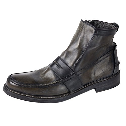 John Varvatos Men's Leather Patrick Penny-Keeper Boots 8 Coal