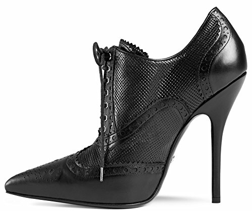 Gucci Gia Leather Brogue Lace-up Booties (8 US; 38 IT)