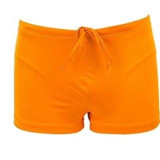 Just Cavalli Men Orange Square Cut Swim Shorts Lycra Beach Boxer Briefs Swimsuit L US EU 52