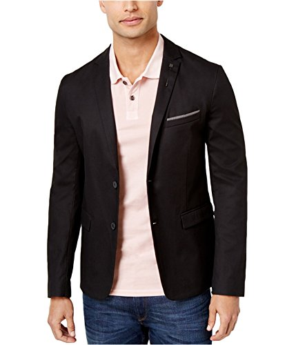Hugo Boss Mens Corded Two Button Blazer Jacket Black 42