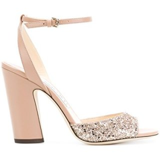 JIMMY CHOO Women's Miranda100pink Pink Leather Sandals