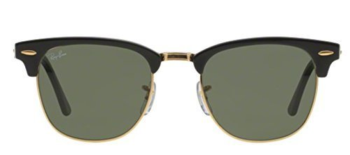 Ray Ban Sunglasses Clubmaster (49 mm, Crystal Green Lens)