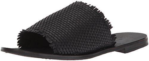 FRYE Women's Riley Woven Slide Sneaker, Black, 9 M US