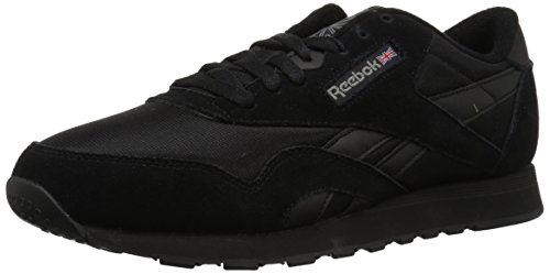 Reebok Men's Classic Sneaker, Black/Black/Carbon, 9 M US