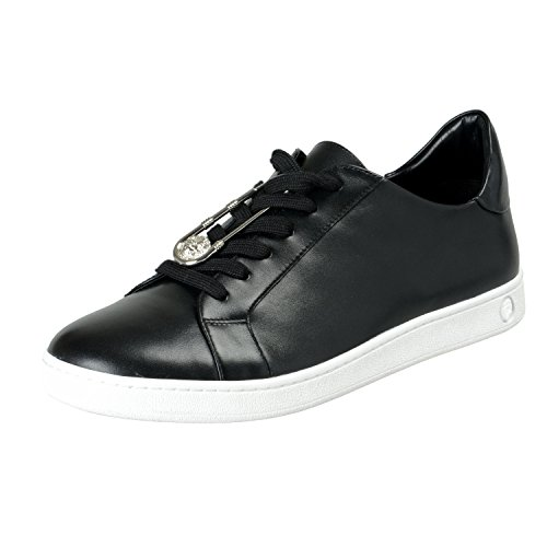 Versace Versus Men's Black Leather Fashion Sneakers Shoes Sz US 8 IT 41