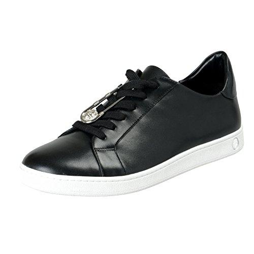 Versace Versus Men's Black Leather Fashion Sneakers Shoes Sz US 8 IT 41