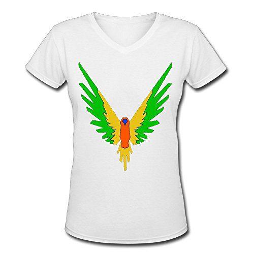Doppelwalker Maverick Logo T Shirt,Logan Paul Logang YouTube womens V Neck T-Shirts (L, White01)