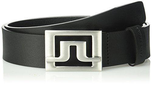 J.lindeberg Men's Slater Pro Leather Belt, black, 90