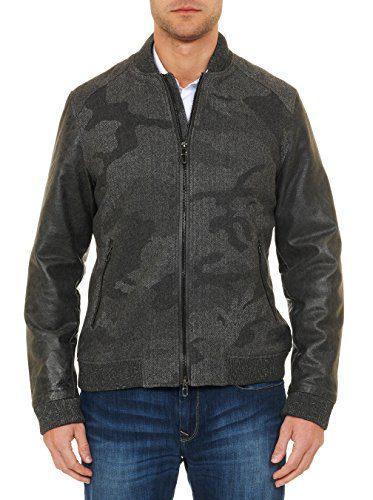 Robert Graham Men's Evanson Bomber Jacket, Charcoal, Large