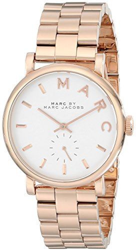 Marc by Marc Jacobs Women's Baker Rose-Tone Stainless Steel Watch with Link Bracelet