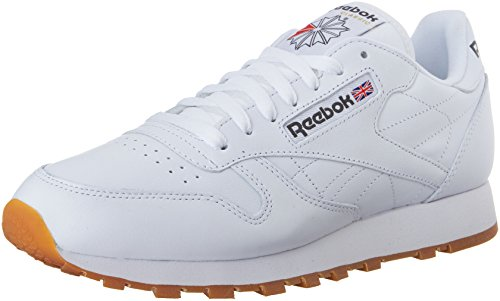 Reebok Men's Classic Leather Sneaker, White/Gum, 9 M US