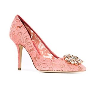 Dolce e Gabbana Women's Pink Cotton Pumps