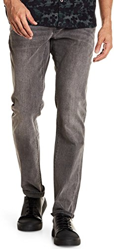 John Varvatos Men's Bowery Fit Slim Straight Jeans Concrete 34