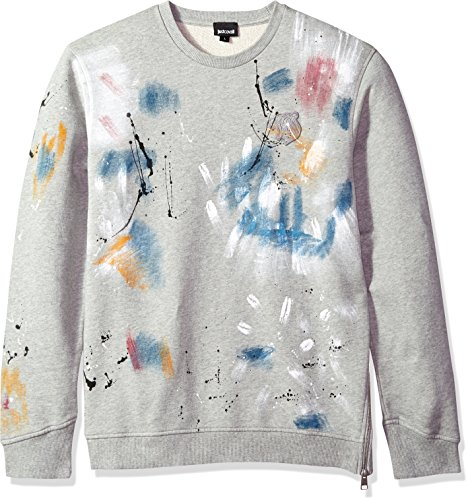 Just Cavalli Men's Sweatshirt, Grey Melange, L