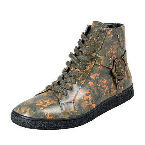 Versace Versus Men's Multi-Color Leather Hi Top Fashion Sneakers Shoes US 7 IT 40