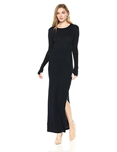 Enza Costa Women's Cashmere Side Slit Maxi Dress, Cadet, M