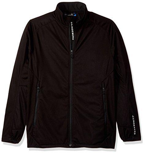 J.Lindeberg Men's Fleece Thermal Jacket, Black, L
