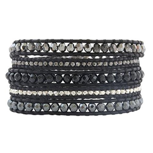 Chan Luu Black Onyx Mix Wrap Bracelet