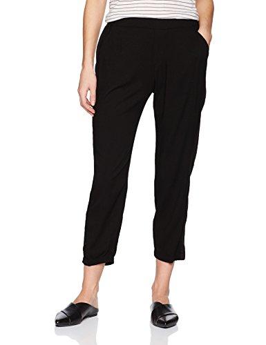 Michael Stars Women's Rylie Rayon Pull on Tuxedo Pant, Black, L