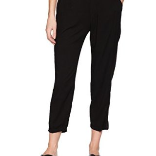 Michael Stars Women's Rylie Rayon Pull on Tuxedo Pant, Black, L