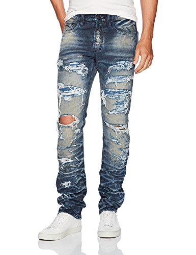 PRPS Goods & Co. Men's Quilt Jean, Indigo Blue, 32