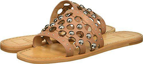 Dolce Vita Women's Celita Slide Sandal, Mocha Leather, 7.5 M US