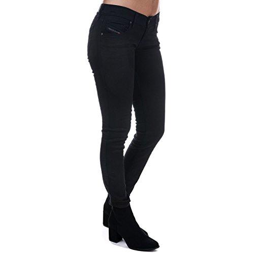 Diesel Womens Stretch Jeans Grupee Superslim Skinny Black (26/32)