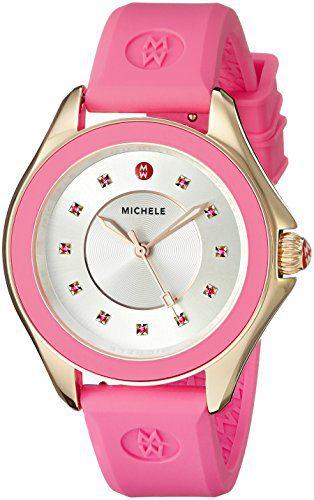 MICHELE Women's Cape Analog Display Analog Quartz Pink Watch