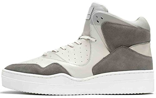 Article Number Nº Mens High Top Sneakers Shoes White/Grey (10.5)