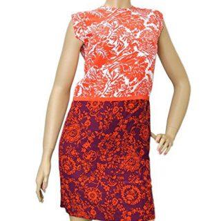 Gucci Women's Multi-Color Floral Silk T-Shirt Runway Dress(40)