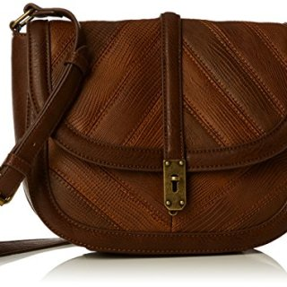 French Connection Womens Patchwork Persia X Cross-Body Bag Tan