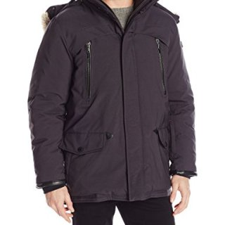 Tumi Men's Fully Loaded Fur Trimmed Parka with Removalable Hood