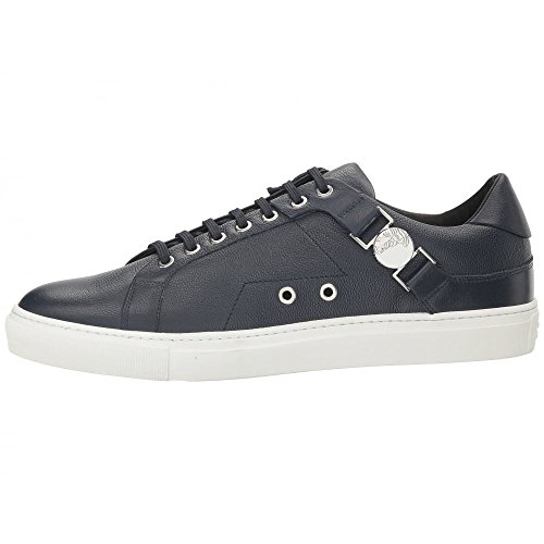 Versace Collection Leather Round Toe Black Trainer 10