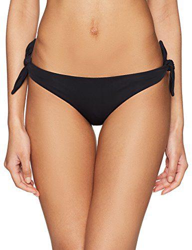 Mara Hoffman Women's Sita Tie Side Bikini Bottom Swimsuit, Sita Black, Small