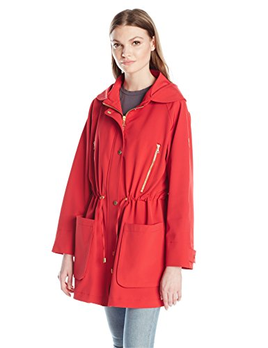 Trina Turk Women's Penny Trench Coat, Red, 6