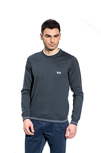Hugo Boss Mens Long Sleeve Rime PS Sweater Navy Blue XX-Large