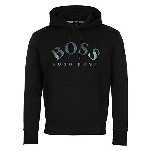 BOSS Green Men's Sly Mordern Heritage Hoodie, Black, XL