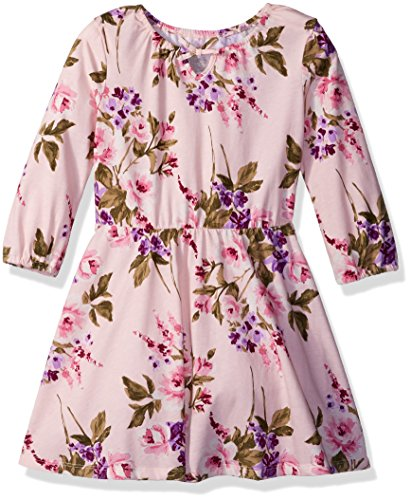 The Children's Place Big Girls' Long Sleeve Dressy Dresses, Crystal Pink