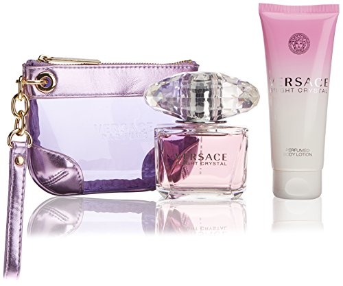 Versace Bright Crystal Perfume 3 PCS Gift Set for Women
