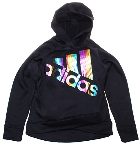 Addidas Girl's Black Long Sleeve Performance Hoodie (Large (12-14))
