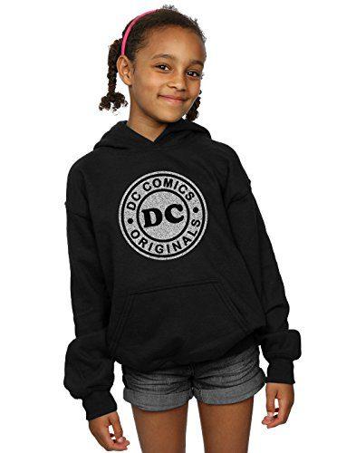 DC Comics Girls DC Originals Crackle Logo Hoodie 12-13 Years Black